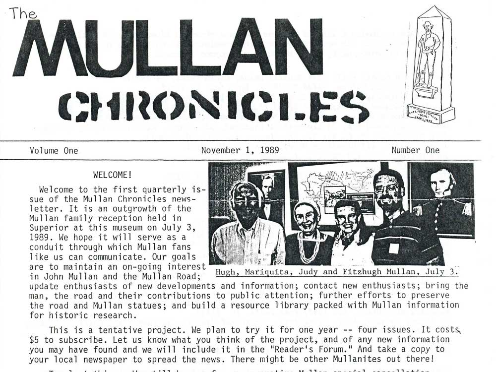 Mullan Chronicles Nov 1 1989 Page 1